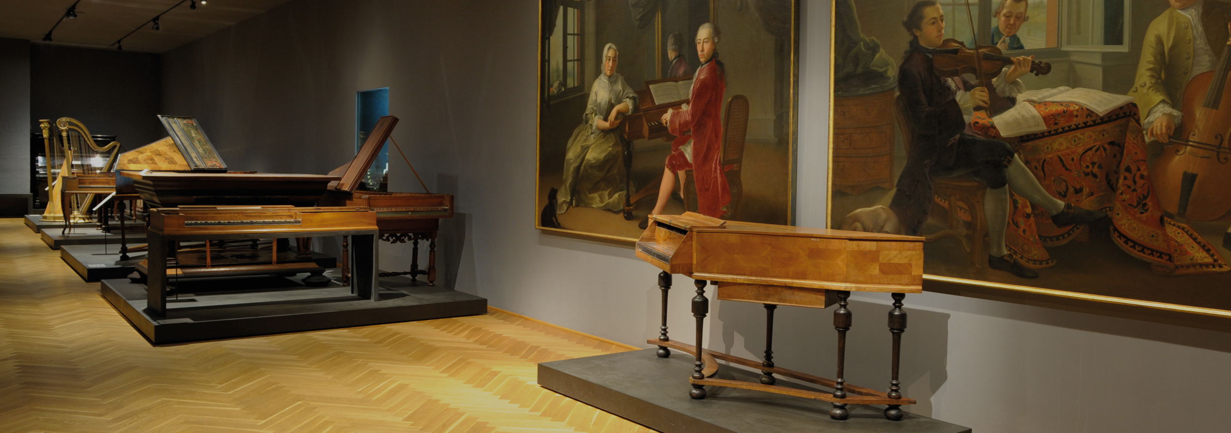 Musikmuseum: Inside view of the room: Concerts, Choirs and Dancing